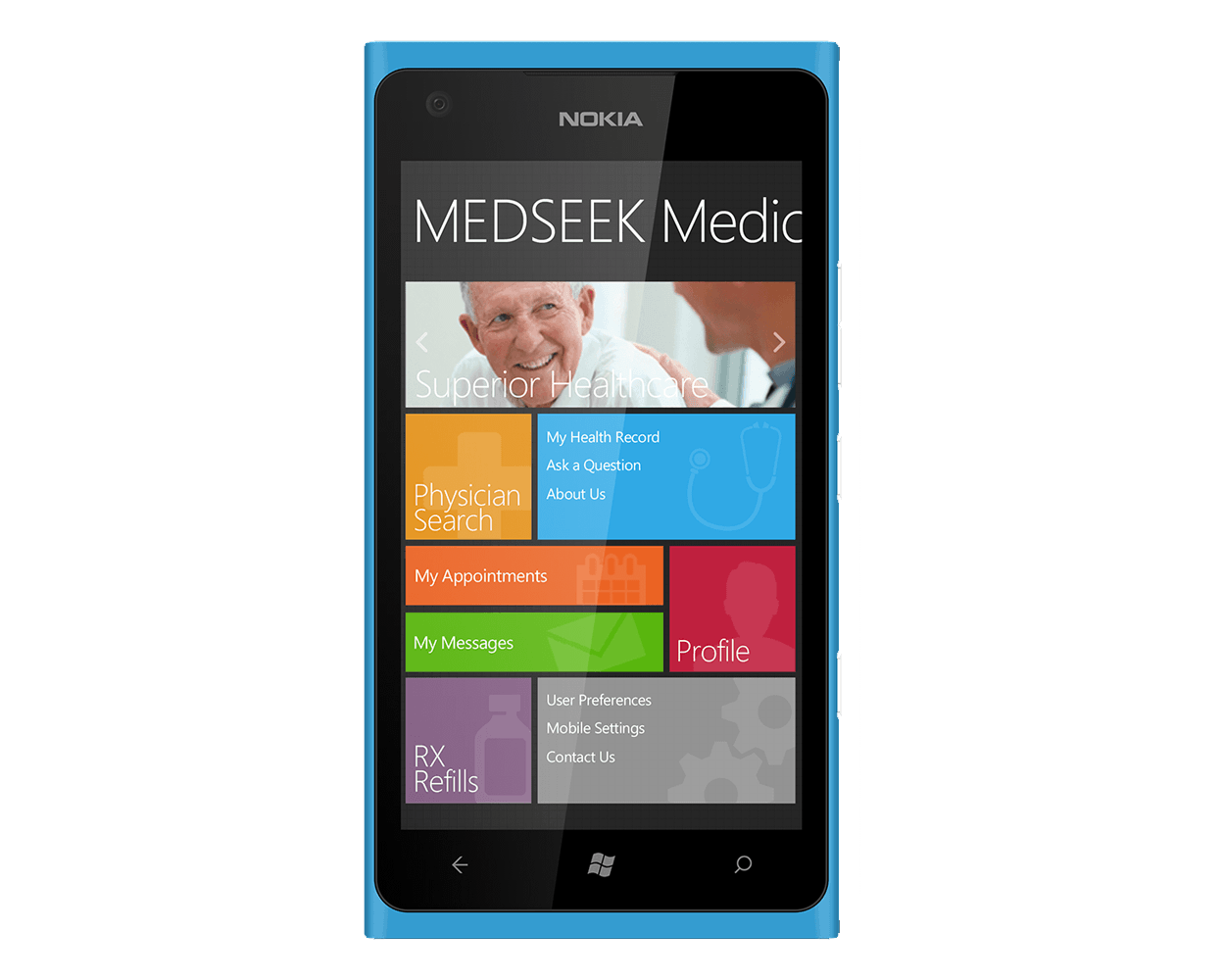 Medseek Convert Mobile Template Design