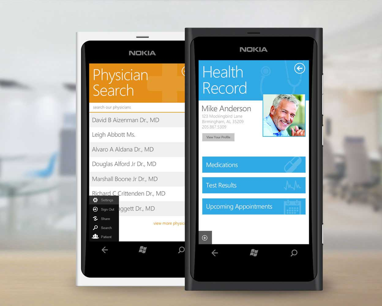 Medseek Convert Mobile Application Design