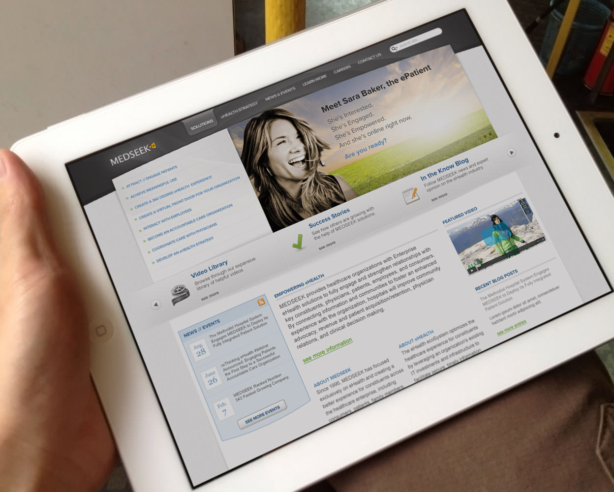 Medseek Web Design - iPad
